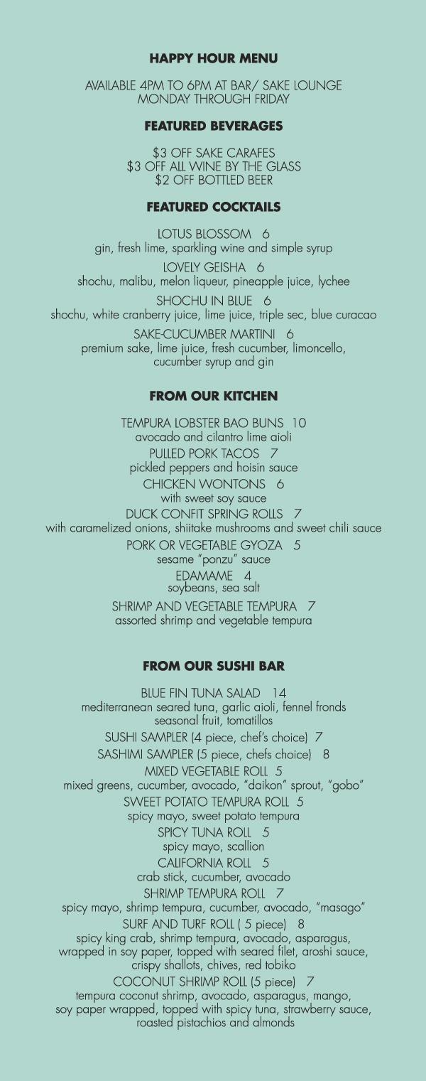 Happy Hour :: KOME Restaurant